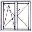 Left double-wing opening & tilting/opening window without central post