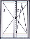 Right double-wing opening & tilting/opening balcony door without central post