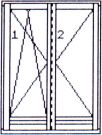 Left double-wing opening & tilting/opening balcony door without central post