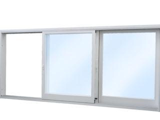 posuvné stěny, posuvná okna HS portal - bílý rám - detail