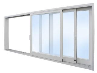 posuvné stěny, posuvná okna HS portal - otevřené