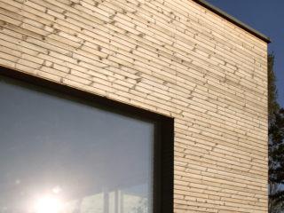 fotogalerie dřevěných, dřevohliníkových oken - dřevěná okna v dřevostavbě v Albrechticích