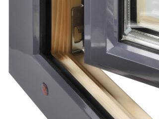 dřevohliníkové okno alu plus