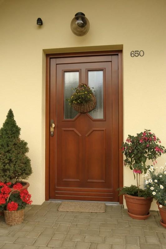 vchodové dveře s prosklením