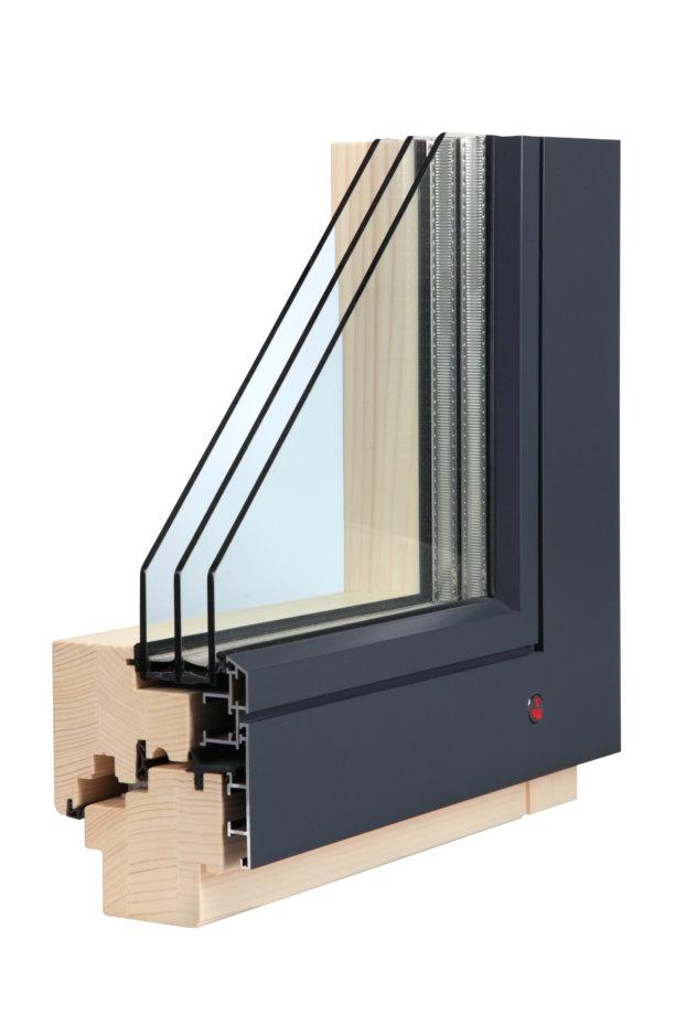 TTK alu line - dřevohliníkové okno s maximálním snížením tepelné ztráty