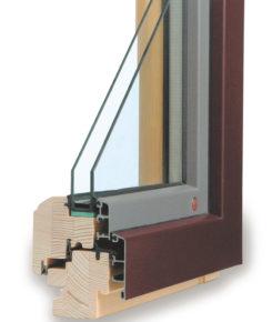 ttk alu - moderní dřevohliníkové okno