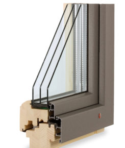 TTK alu plus jsou velmi odolná dřevohliníková okna