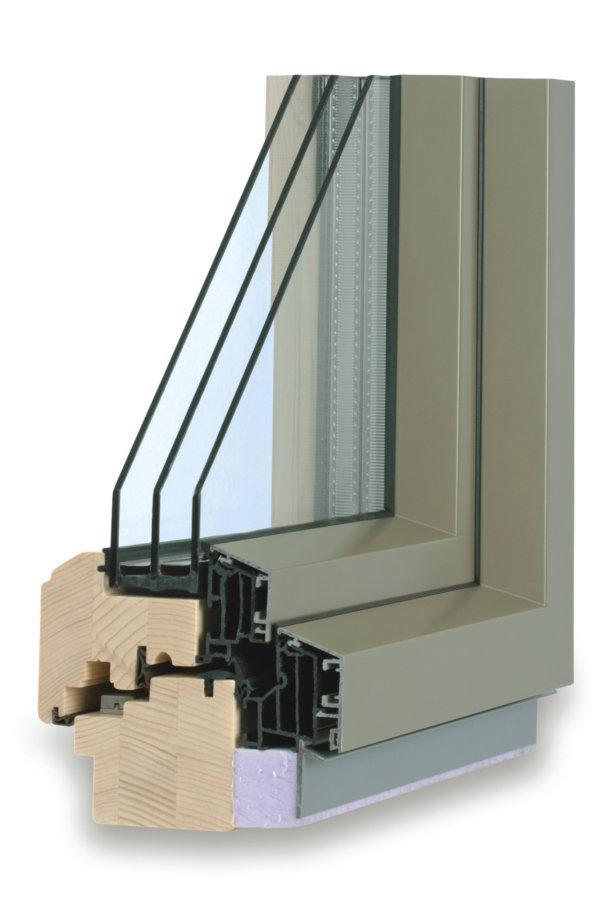 TTK alu therm je luxusní termoizolační dřevohliníkové okno
