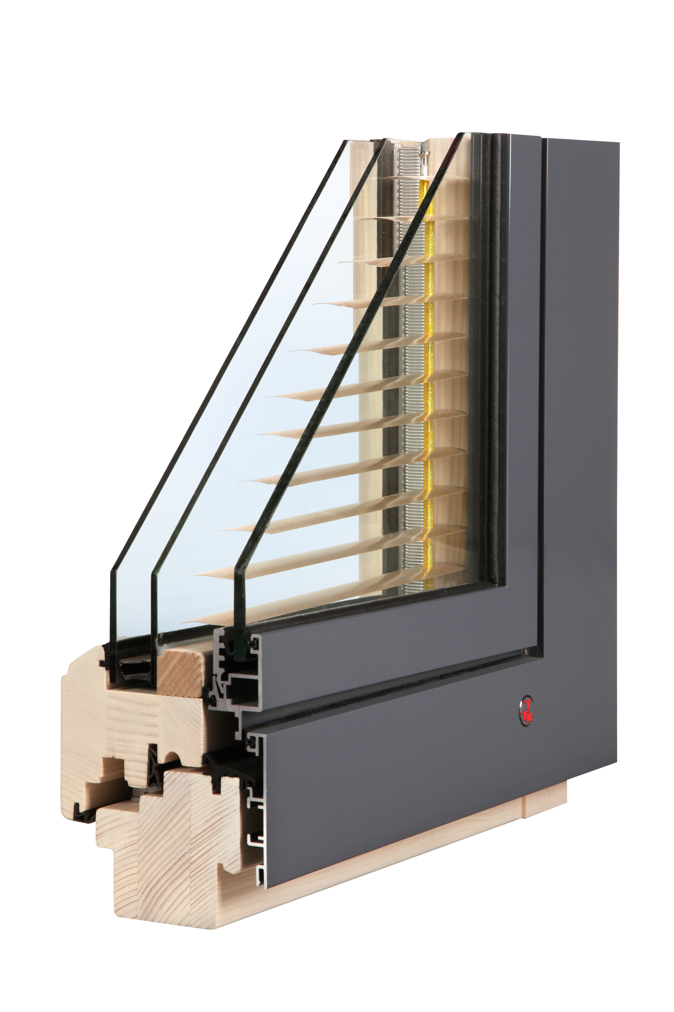 TTK triplex plus je izolační dřevohliníkové okno