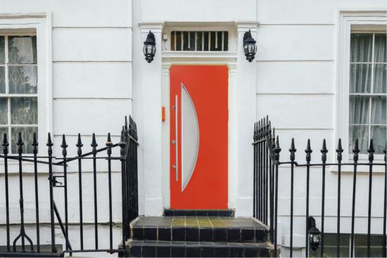oranžové vchodové dveře TTK