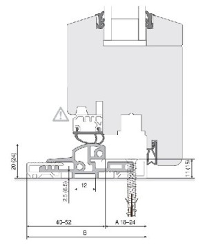 balkonový práh - nákres