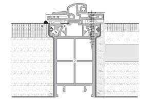 balkonový práh - půdorys