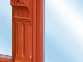 detail dřevěného okna ttk rustikal